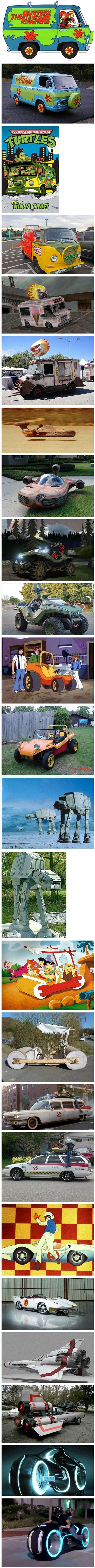Cartoon vehicles IRL. if i had the time and resources i would do the shellraiser and ecto 1 and the tron cycle