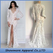 Style Number FL15189 newest ivory and black instocksee through long lace evening dress Best Seller follow this link http://shopingayo.space