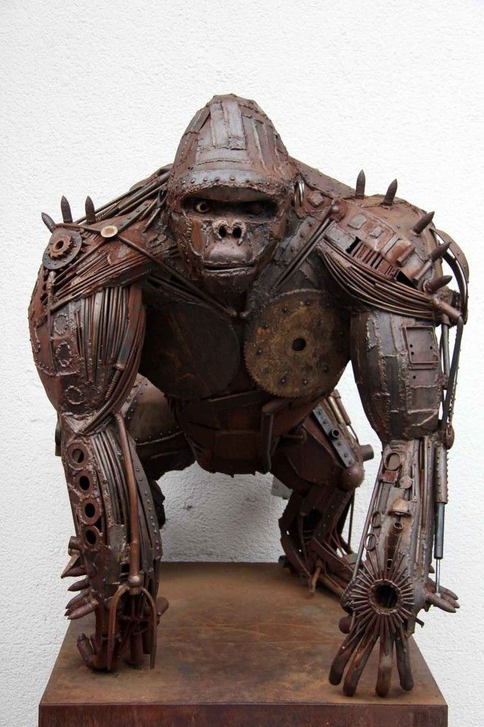 Best ART Sculpture Images On Pinterest Drawings - Artist creates incredible sculptures welding together old farming equipment