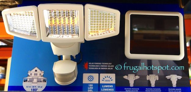 Sunforce Solar Motion Activated Security Light. #Costco #FrugalHotspot