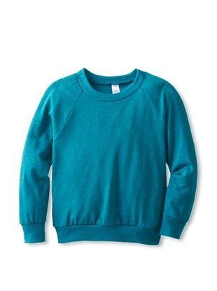 89% OFF American Apparel Kid's Tri-Blend Raglan Pullover (Tri-Evergreen)