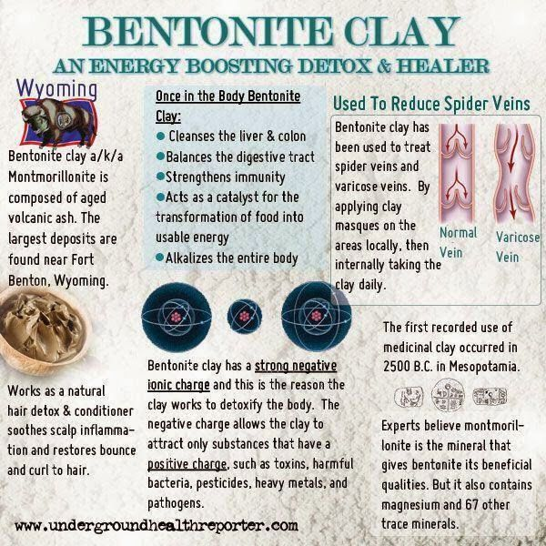 How to use bentonite clay to detox your body and colon from toxic chemicals; the clay internal body cleanser.  Removes heavy metals, toxins, mucoid plaque - lots of benefits! Read more