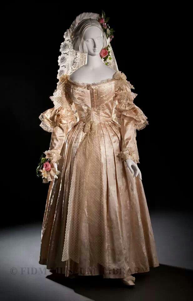 Wedding gown England 1838.