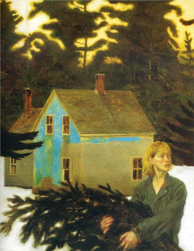 """Black Spruce"" (1994) by Jamie Wyeth"