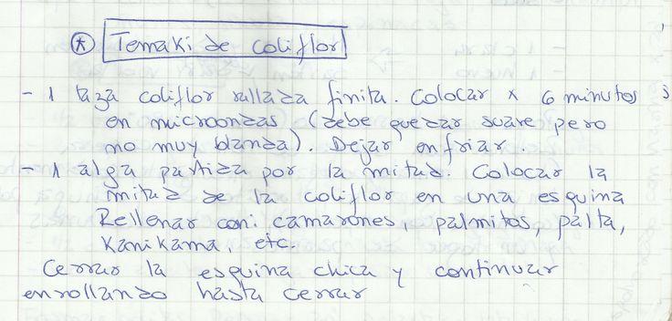 TEMAKI DE COLIFLOR   #SALADO #COCTEL #COCTEL #COLIFLOR