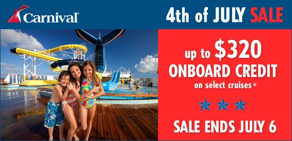 4th of july cruise sale