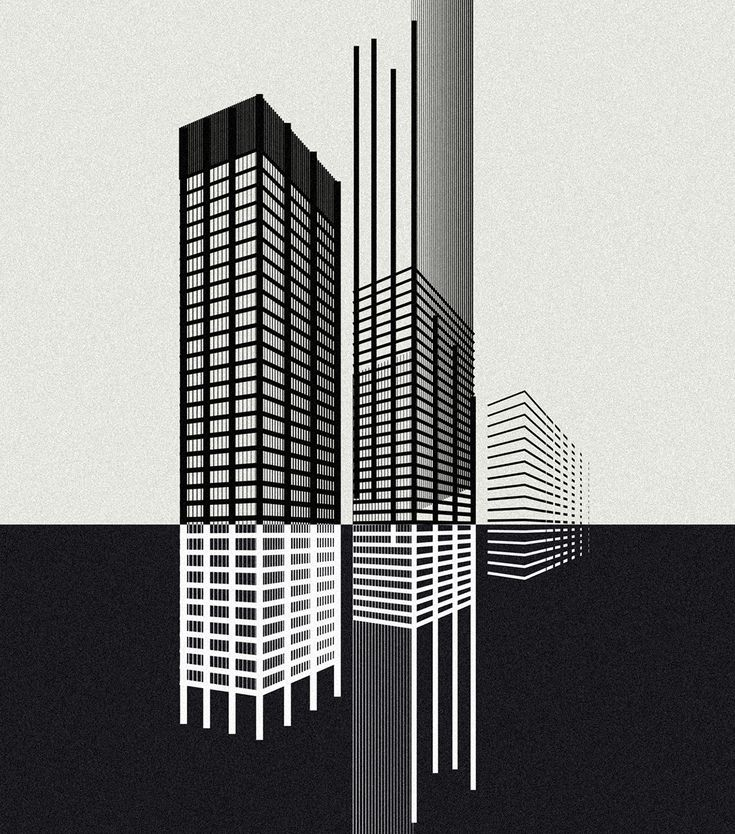 Andrea minini on behance seagram buildingvector illustrationsarchitecture designart