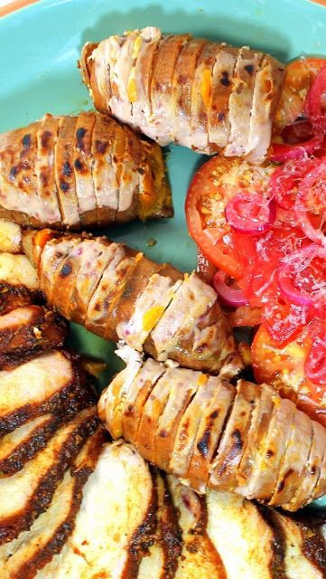 Year on the Grill: GRILLED Hasselback Sweet Potato MOUSSE - 52 Side Dishes from the Grill