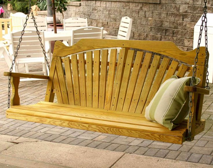 Simple Porch Swings Design Ideas ~ http://www.lookmyhomes.com/enjoy-the-warmth-of-the-family-along-with-porch-swings/