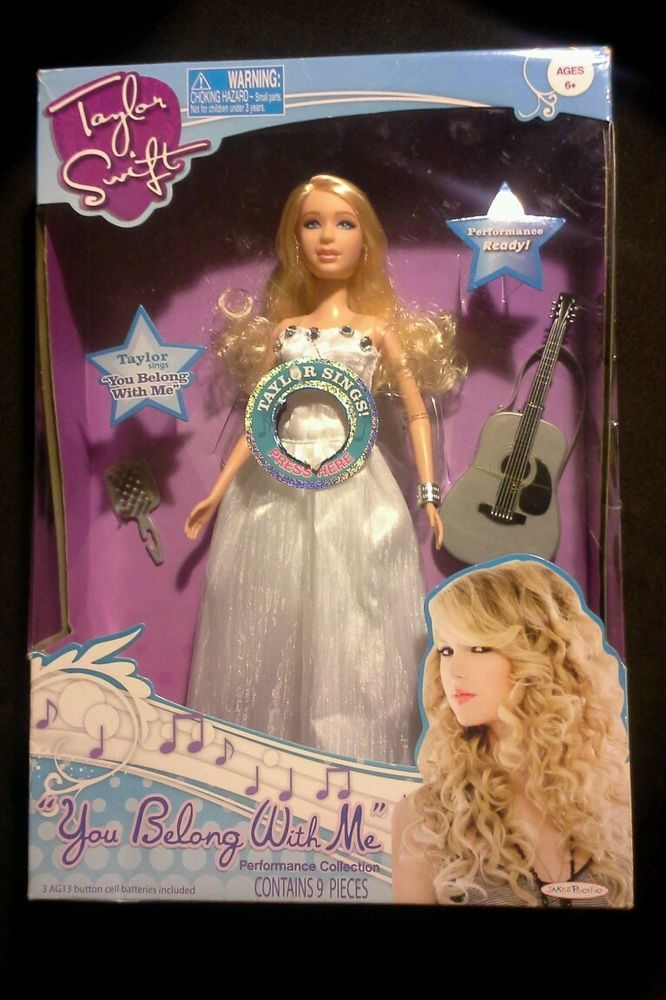 """TAYLOR SWIFT """"YOU BELONG WITH ME"""" performance collection singing doll #JakksPacificInc #DollswithClothingAccessories"""