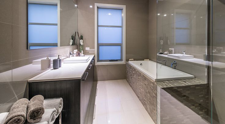 This natural toned bathroom just invites you to relax and pamper yourself. #bathroom
