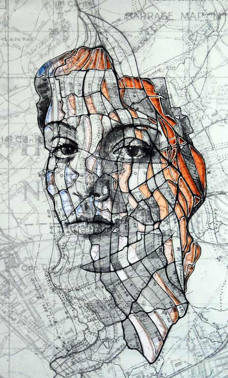 "Saatchi Art Artist: Ed Fairburn; Pen and Ink 2013 Drawing ""Western Front Cutout (Part I)"""