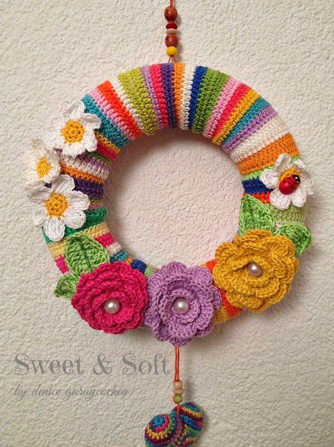 La Magia del Crochet: CORONA DE PRIMAVERA