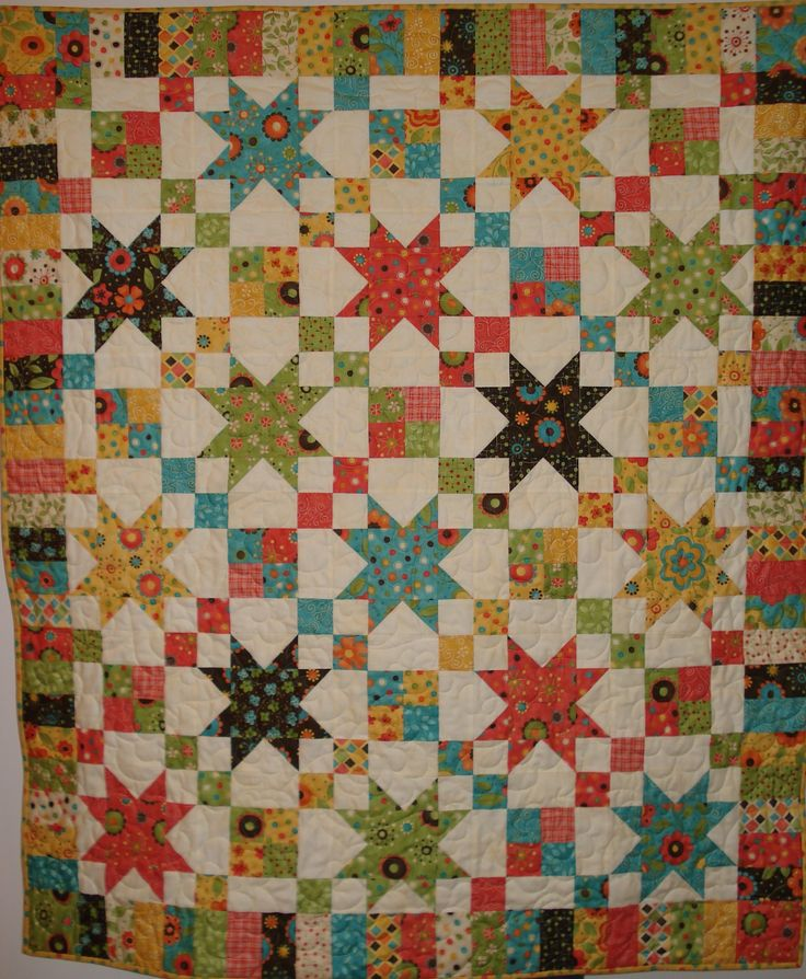 jelly roll quilts | Cindy made the Star Chain pattern from my book, Jelly Roll Quilts ...