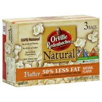Orville Redenbacher's Natural Butter 50% Less Fat Popcorn