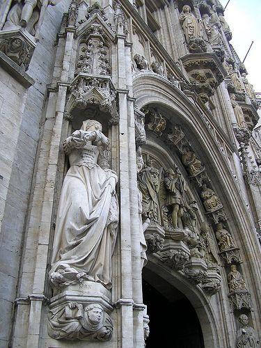 Городская ратуша Брюсселя : Фото достопримечательности Городской ратуши Брюсселя, Бельгия - Достопримечательности