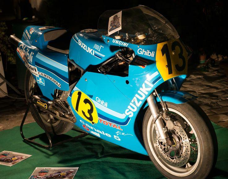 La moto del campione Franco Uncini.