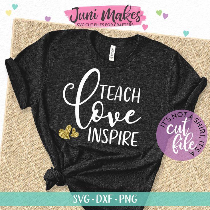 Teach Love Inspire SVG | Teacher SVG | School T-Shirt Design