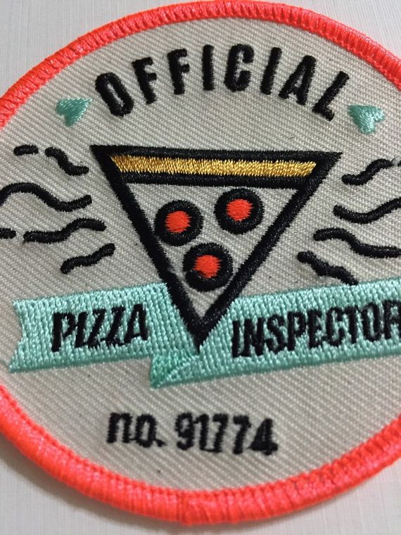 Official Pizza Inspector Patch Badge - embroidered iron on patch