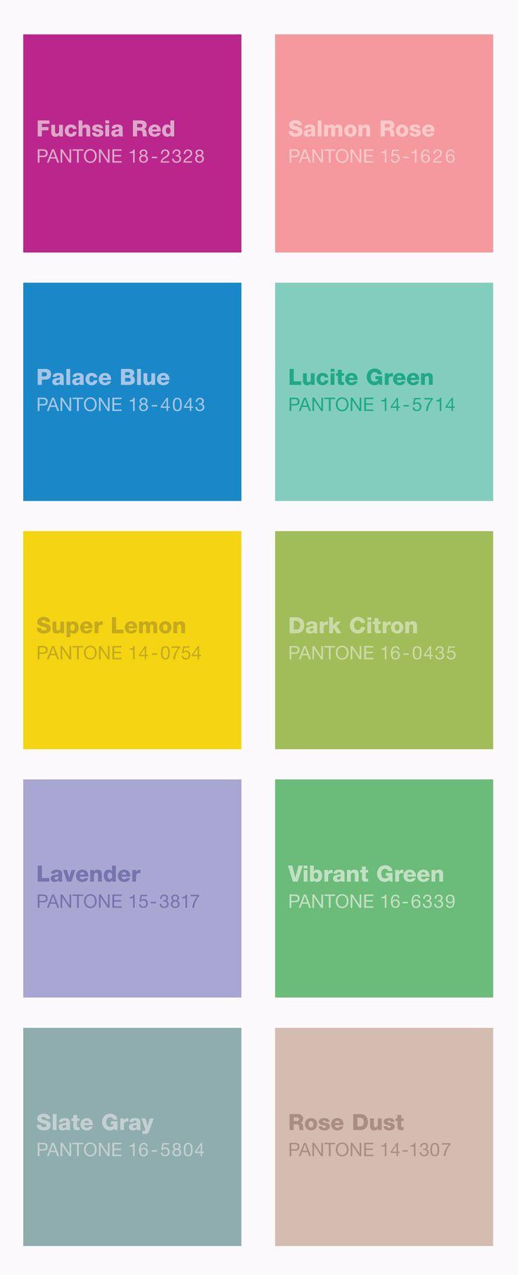 Spring Pantone Colors Casa Pinterest