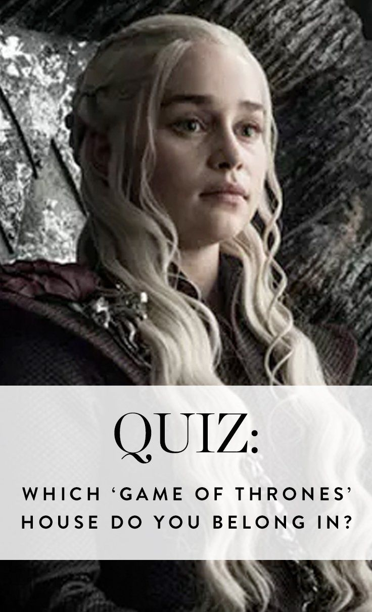 Find out which Game of Thrones house you belong in. Take the quiz here.