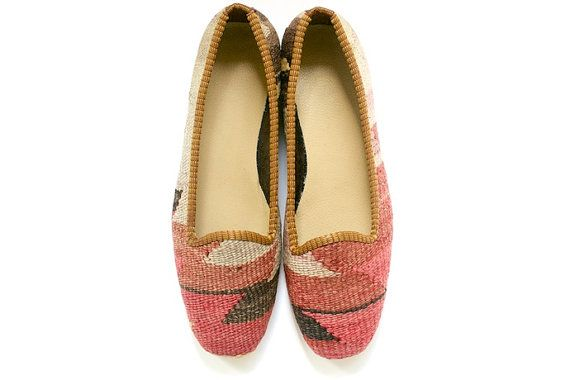 Turkish Kilim Tapestry shoes - from kilims.