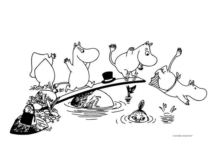 Moominmamma, Moominpappa, Moomintroll (Moomin) and Snork Maiden =)