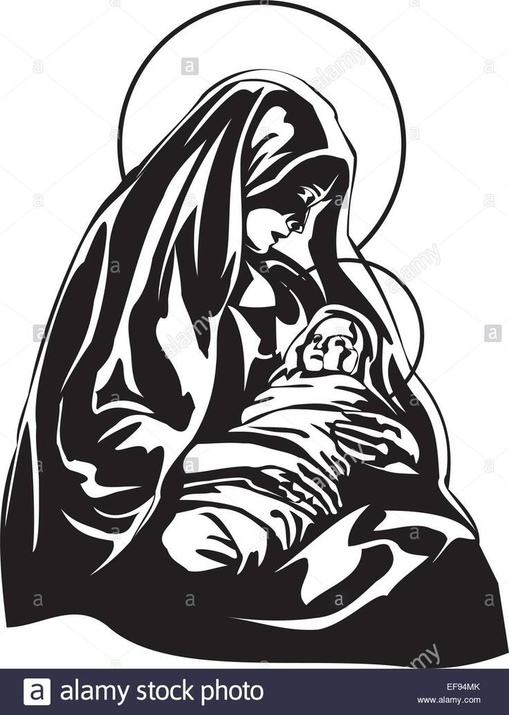 Download this stock vector: Mary Holding Baby Jesus - EF94MK from Alamy's library of millions of high resolution stock photos, illustrations and vectors.
