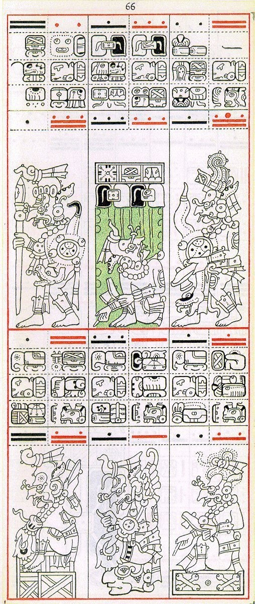 Gates drawing of Dresden Codex Page 66