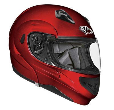 Helmet - Scooter Motorcycle Moped Helmets - Summit II Candy Red > Part #V4500RED271