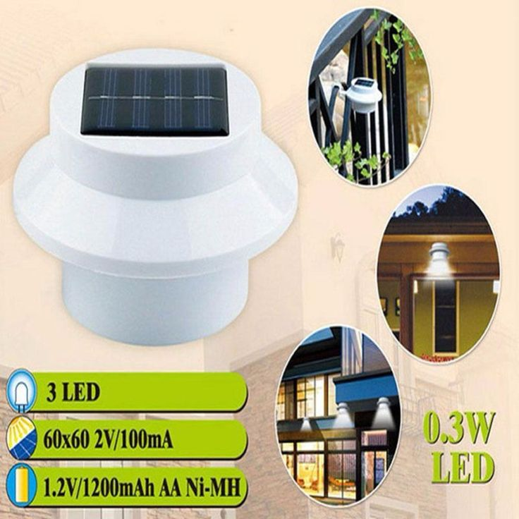Hot3 Bright White LED Garden Led Solar light Outdoor Waterproof Garden Yard Wall Pathway Lamp For Driveways outdoor parties A458