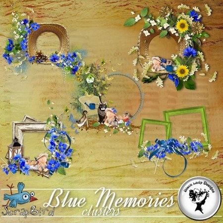 Blue Memories - Clusters - by BlackLadyDesigns