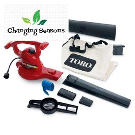 Leaf Blower Vac Corded Electric Handheld Lawn Vacuum Fast Work Of Yard Cleanup  #Toro
