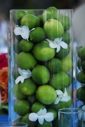 lime centerpiece…so simple & cute!!