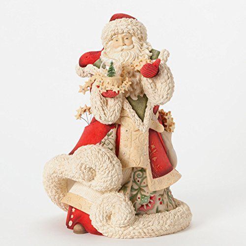 Enesco Heart of Christmas Gift Masterpiece Santa W Snow Globe Figurine, 12.2-Inch *** Click image for more details. (This is an affiliate link) #CollectibleFigurines