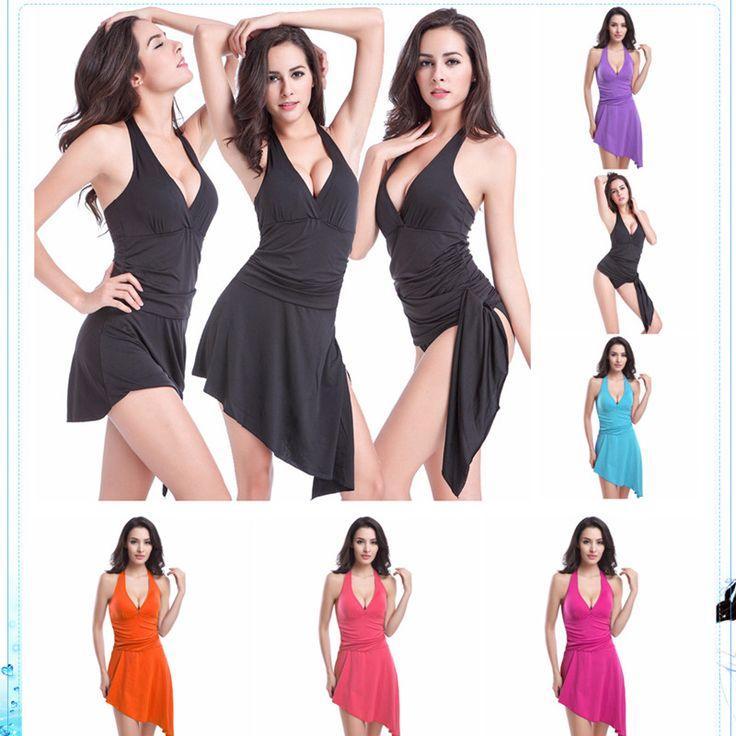 $35.98 (Buy here: https://alitems.com/g/1e8d114494ebda23ff8b16525dc3e8/?i=5&ulp=https%3A%2F%2Fwww.aliexpress.com%2Fitem%2Fbikini-set-skirt-Sexy-bikinis-Push-Up-Solid-Chest-pad-Bikini-Swimsuit-sling-beach-wear-2016%2F32678589819.html ) bikini set skirt Sexy bikinis Push Up Solid Chest pad Bikini Swimsuit sling beach wear 2016 women swimwear one piece swim suit for just $35.98