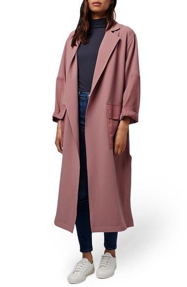 Topshop Contrast Panel Duster Coat available at #Nordstrom