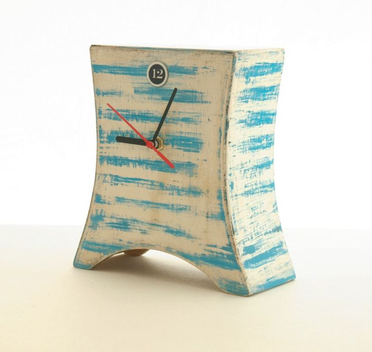 Desk Clock marine, Blue stripes, Nautical clock, Wooden Naval Clock, Summer clock, Table clock, Gift for Mom by ClockWoodStudio on Etsy https://www.etsy.com/listing/76802952/desk-clock-marine-blue-stripes-nautical