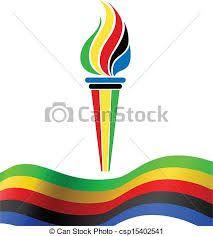 Resultado de imagem para tocha olimpica para colorir