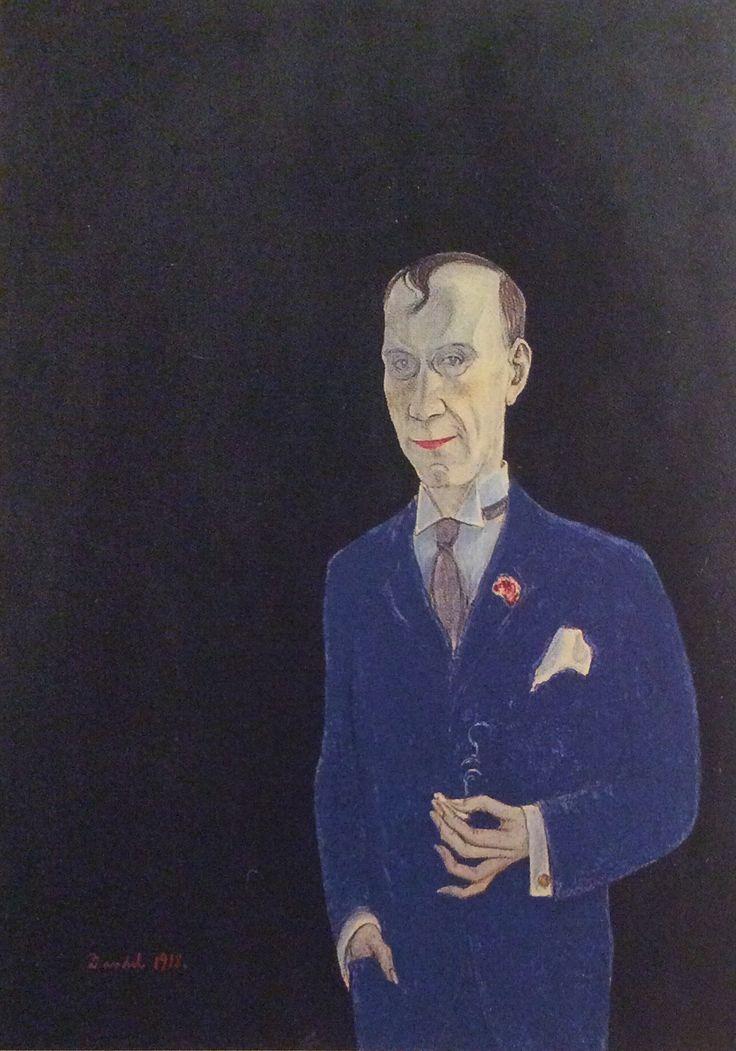 "Nils Dardel: ""Derek Sprengel"", 1918 Oil, 50x40 Moderna Museet"