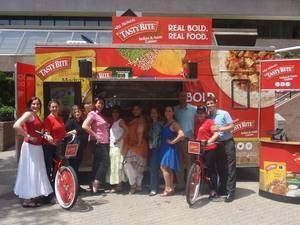 #TastyBite Mobile Tour 2014. Check out the Tasty Bite Sampling Experience with Cool Interactives, Cell Phone Charging Stations and a Fun Photo Opportunity! Don't forget to Sample a #tasty Bite Rice, Asian or Indian Cuisine. #TeamTurtle loves the #MadrasLentils! #BuiltbyTurtle