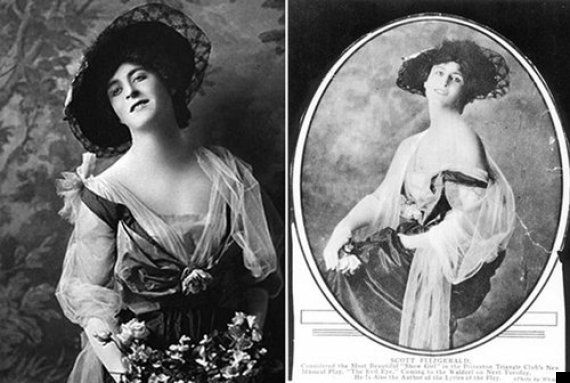 "F. Scott Fitzgerald in drag: the photo was taken in 1916 he was in his third year at Princeton University. Fitzgerald was then performing a play called ""The Evil Eye,"" which he also wrote the lyrics for, with a musical-comedy troupe known as the Princeton Triangle Club."