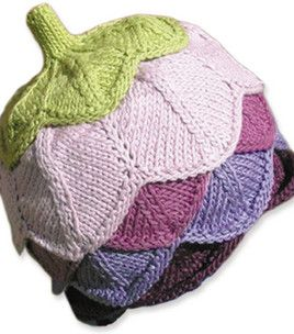 knitwhits eggplant hat -- yarn & instructions provided :)