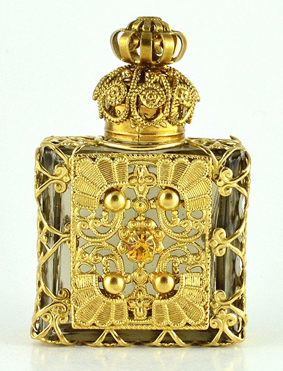 Vintage Hand Made Vanity Ornate Gold Tone by Jewelryandvintage