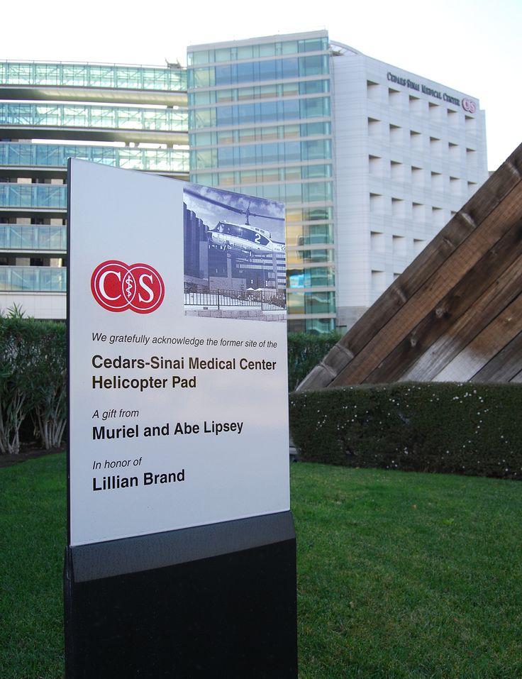Donor signage. Cedars-Sinai Medical Center.