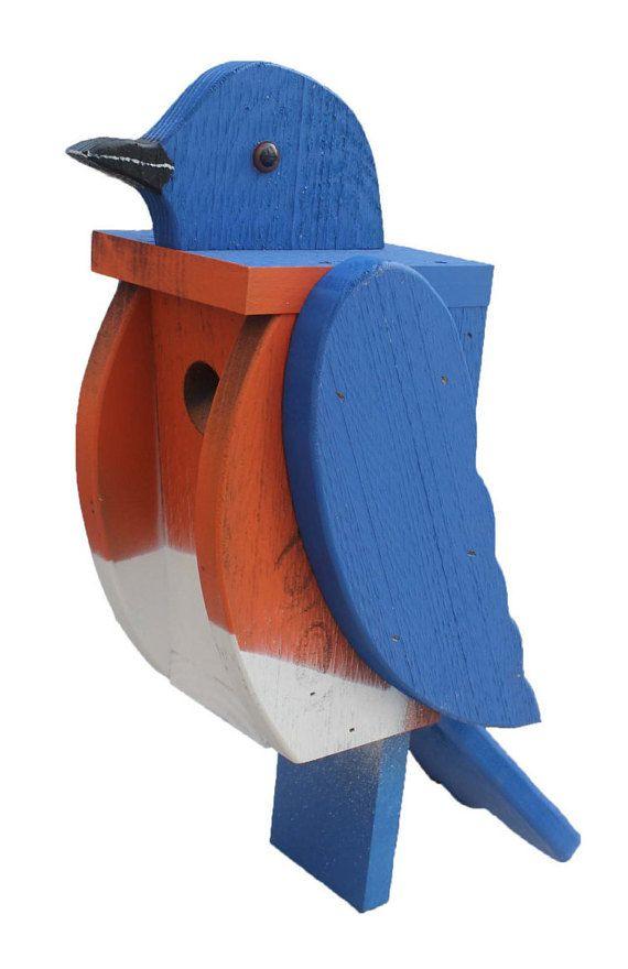 Amish Made Bird House - Bluebird House