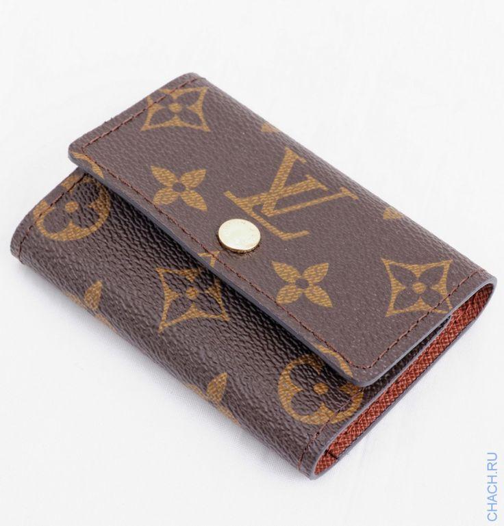 Ключница небольшая кожаная Louis Vuitton на шесть ключей