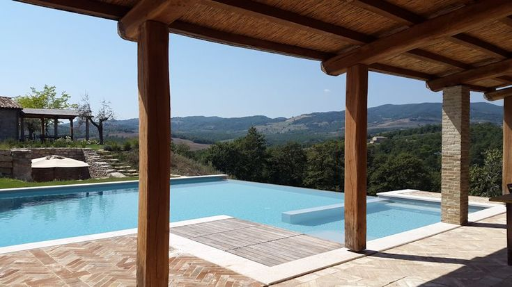Infinity pool at a project we built in Umbria– Renovating in Umbria