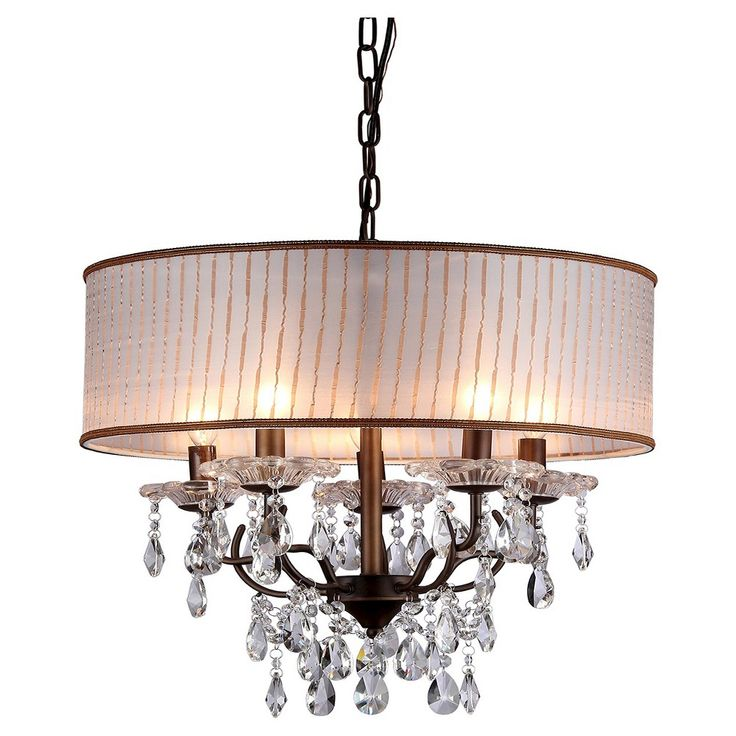 Warehouse Of Tiffany Chandelier Ceiling Lights -Bronze, Silver