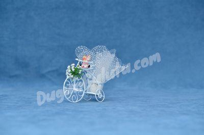 Altın Sepetli Bisiklet Nikah Şekeri MEN13